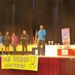 Le podium du semi marathon, 1700 participants.