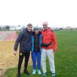 Championnats du Var de marche sur piste , Isabelle remporte le titre sur 10 000m, Maxime étraine son diplôme de juge départemental